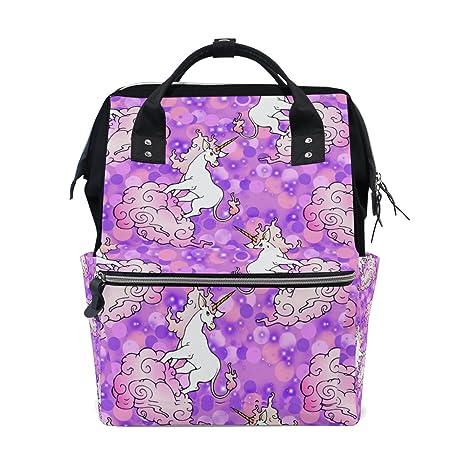COOSUN Mystic Unicornios de cambio de pañales bolsa de pañales Mochila con bolsillos aislado Cochecito correas