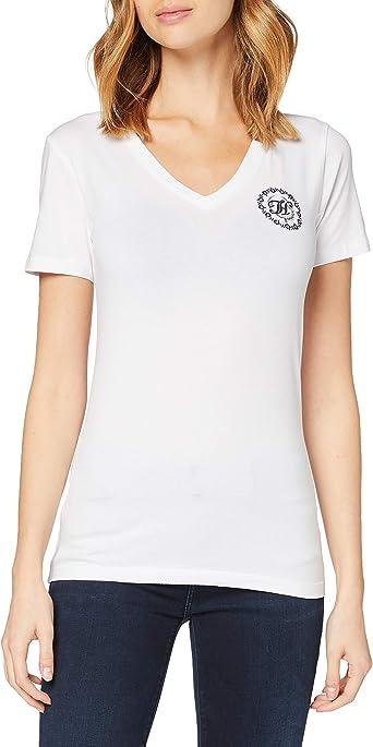 Tommy Hilfiger Slim V-nk Floral TH tee SS Camisa para Mujer