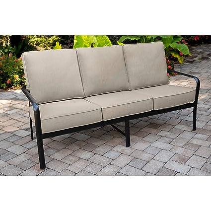 Excellent Amazon Com Hanover Cortino Grade Aluminum Sofa With Plush Theyellowbook Wood Chair Design Ideas Theyellowbookinfo