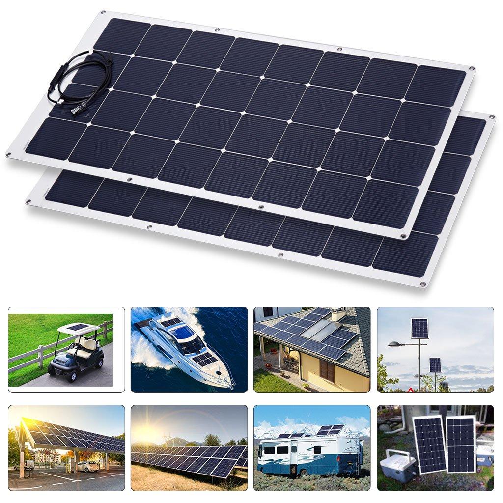 Marine Flexible Solar Panels Besides Panel Wiring Diagram Amazon Com Suaoki 150w 18v Bendable Rh