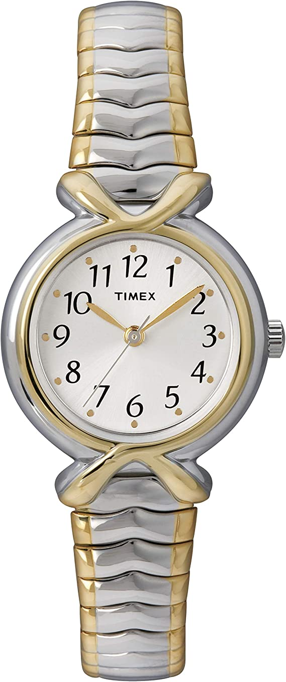 Timex Women's T21854 Pleasant Street Two-Tone Stainless Steel Expansion Band Watch