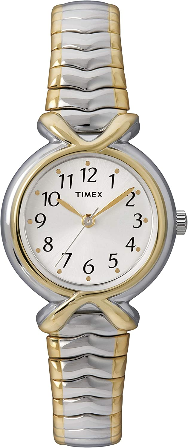 B00008IM8Q Timex Women's T21854 Pleasant Street Two-Tone Stainless Steel Expansion Band Watch 71vv3WOqV2BL