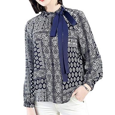 8467e53678 DISSA D19053 Women Shirt Fashion Top Loose Stand-up Collar Long ...