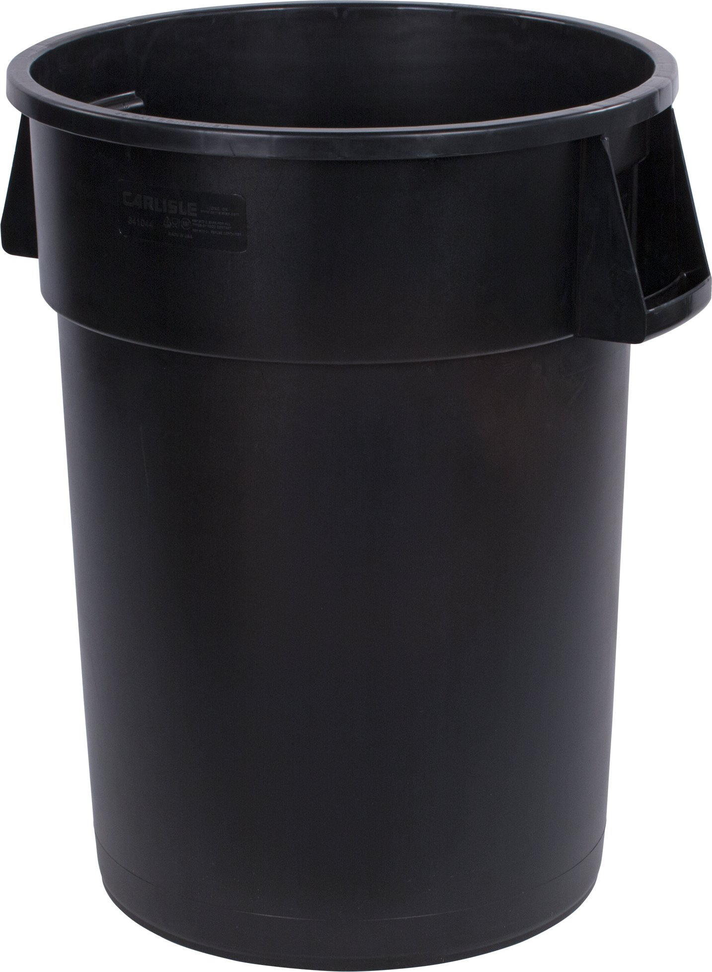 Carlisle 34104403 Bronco Round Waste Container Only, 44 Gallon, Black