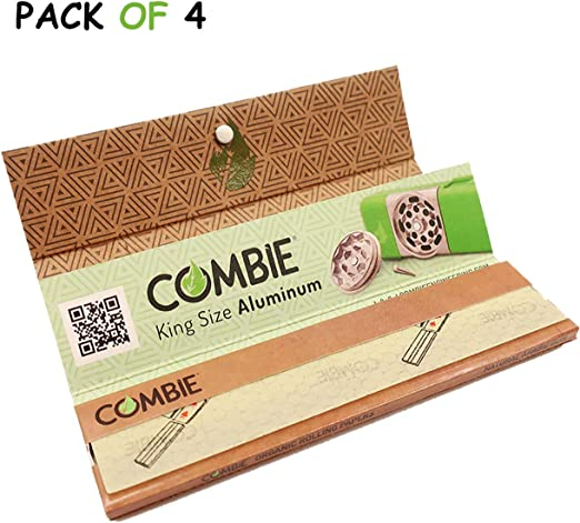 Unbleached Natural Hemp Cotton Rolling Papers Filter Tips 6 Booklet 300 leaves