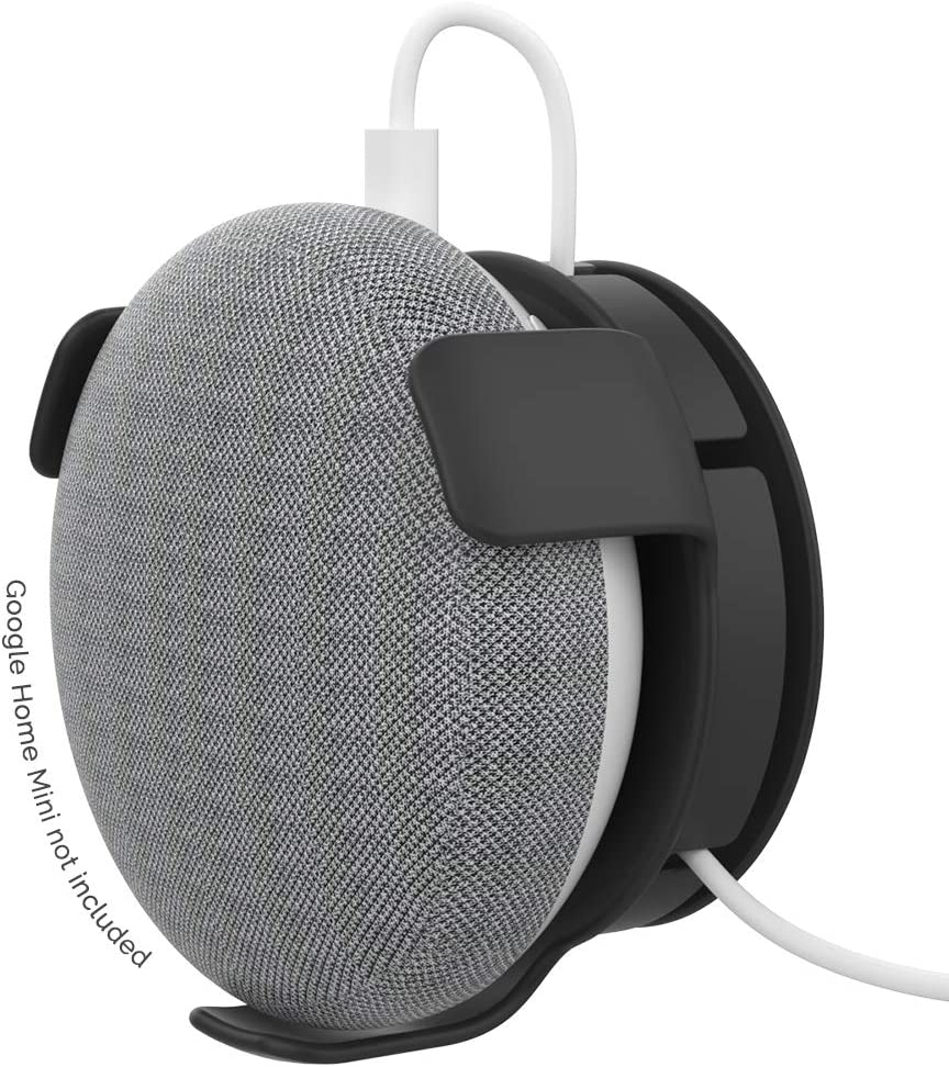 avec gestion intelligente du c/âble AhaStyle Support mural en ABS pour assistant vocal Google Home Mini