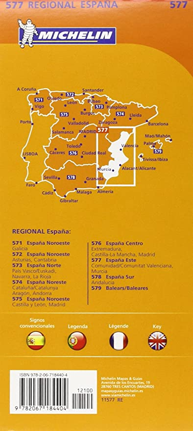 Mapa Regional Comunidad Valenciana, Murcia (Carte regionali ...