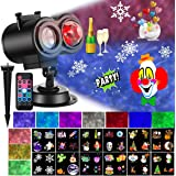 Christmas Projector Lights with Ocean Wave Outdoor Holiday Decorations,Halloween Led Projector Lights 2-in-1 Moving Patterns