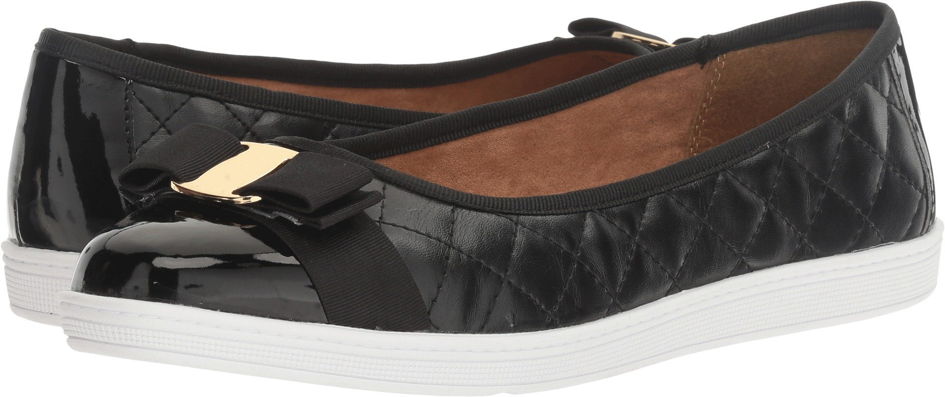 Soft Style by Hush Puppies Women's Faeth Flat, Black, 6 W US