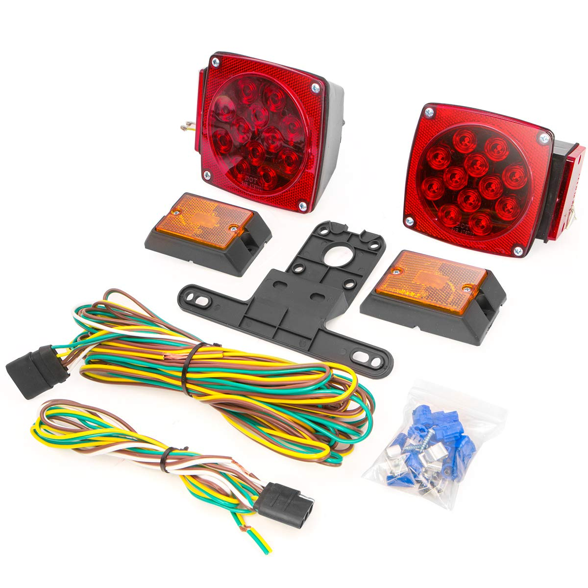XtremepowerUS 12 Volt LED Universal Mount Combination Trailer Tail Lights Kit by XtremepowerUS
