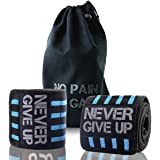 """Workouty Professional Elbow Wrist Wraps--40"""" Elbow Support Brace FOR Weight Lifting, Chin Up, Crossfit One Pair with Carry Bag"""
