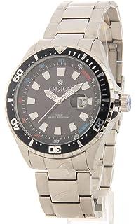 amazon com croton men s ca301157orbk stainless steel quartz watch croton mens large stainless steel date casual watch ca301245bkbk