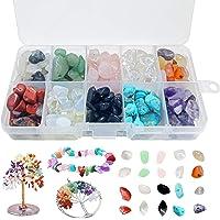 10 Colores Cuentas de Piedras Preciosas,Piedra para Hacer joyería,Caja de cuentas de piedra,Piedras para bisuteria…