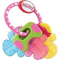 Nuby Ice Gel Teether Keys, 1 pack Pink (567)