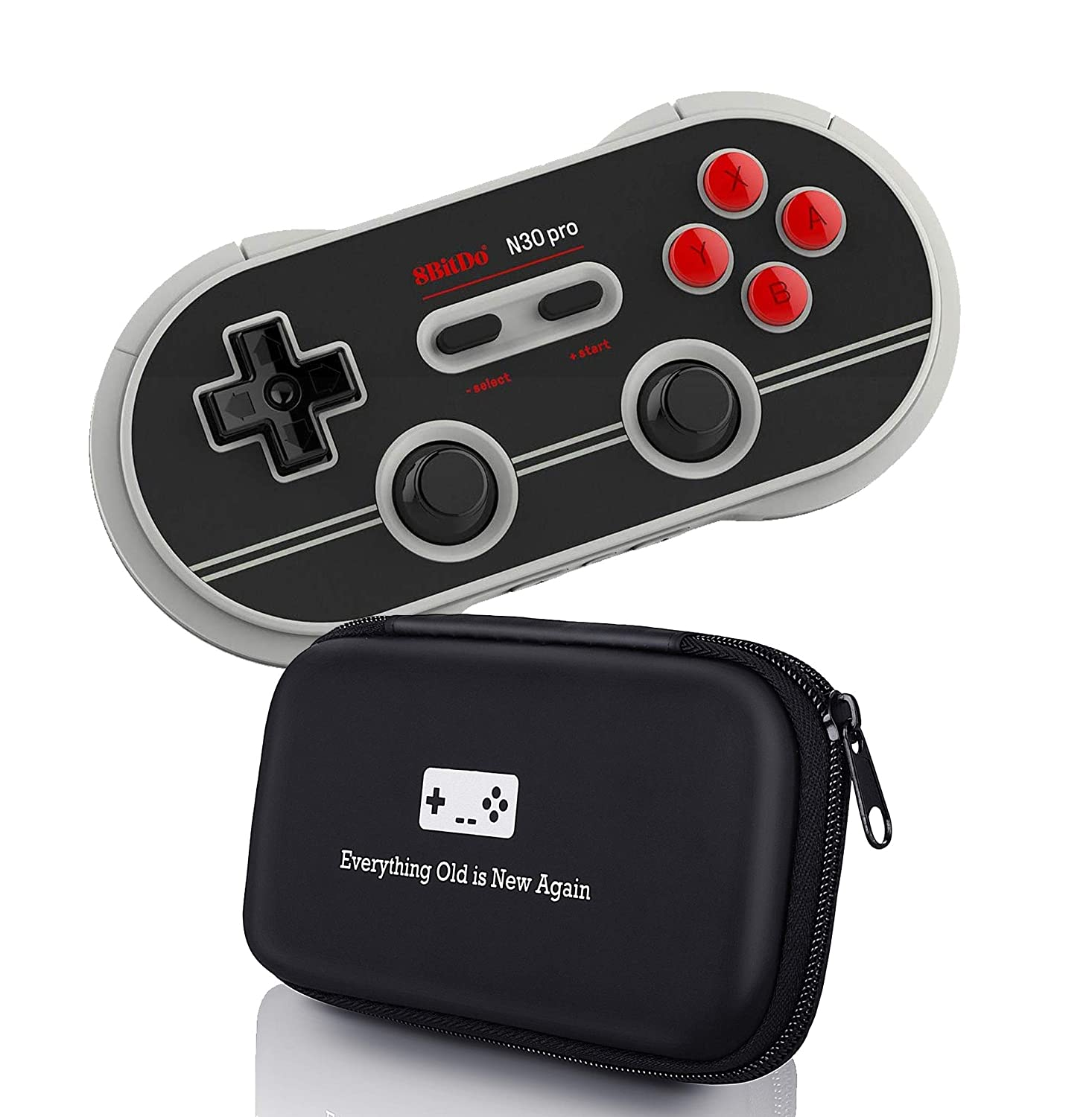 Geek Theory 8bitdo N30 Pro Controller Bundle Includes Nes30 Retro Bluetooth For Switch Ios Android Pc Mac Carrying Case Updated 2018 Version Nes And Snes Classic