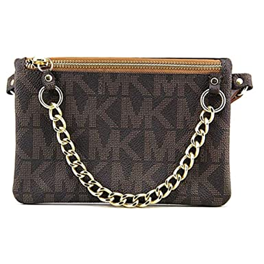 d1fdd7cbea52d7 Amazon.com | Michael Kors Brown MK Signature Fanny Pack Belt Bag ...