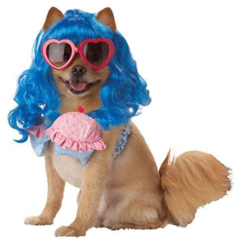 Pup-A-Razzi - Disfraz de Cupcake, Color Azul y Rosa: Amazon.es ...