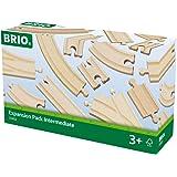 Brio - 33402 - Circuits de train en bois - Coffret évolution Intermédiaires - 16 pièces