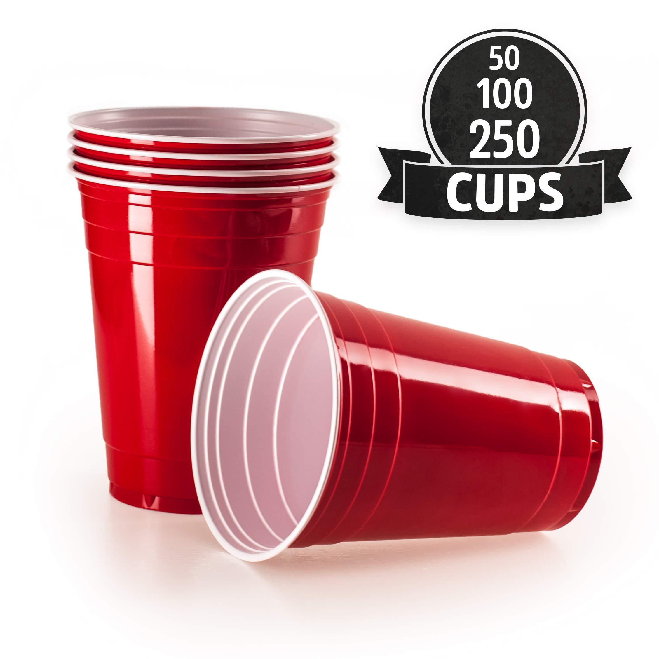 853a8c2ce0 Gobelet Rouge Americain (x100) - Gobelet Plastique Fete, Beer Pong, 473 ml