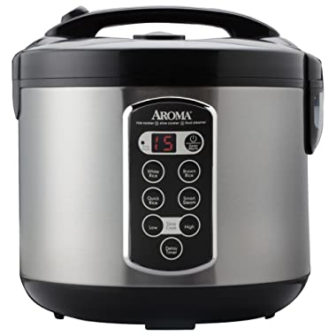 Aroma Housewares ARC-2000ASB Professional 10-Cup(un-cooked)/20-Cup (Cooked) Digital Rice Cooker