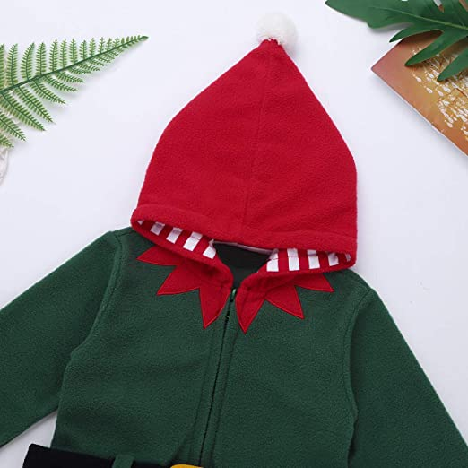 Amazon.com: ACSUSS Infant Baby Boys Girls Christmas Santa Claus Elf Costumes Winter Warm Hooded Coat Jacket: Clothing
