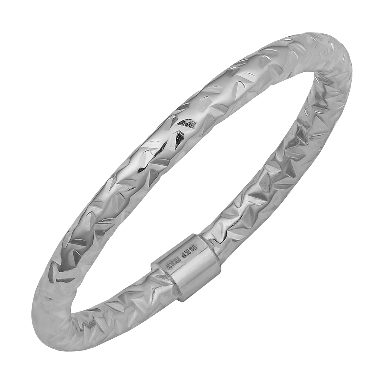 14k Gold 2mm Diamond-Cut Ring (yellow, white or rose)