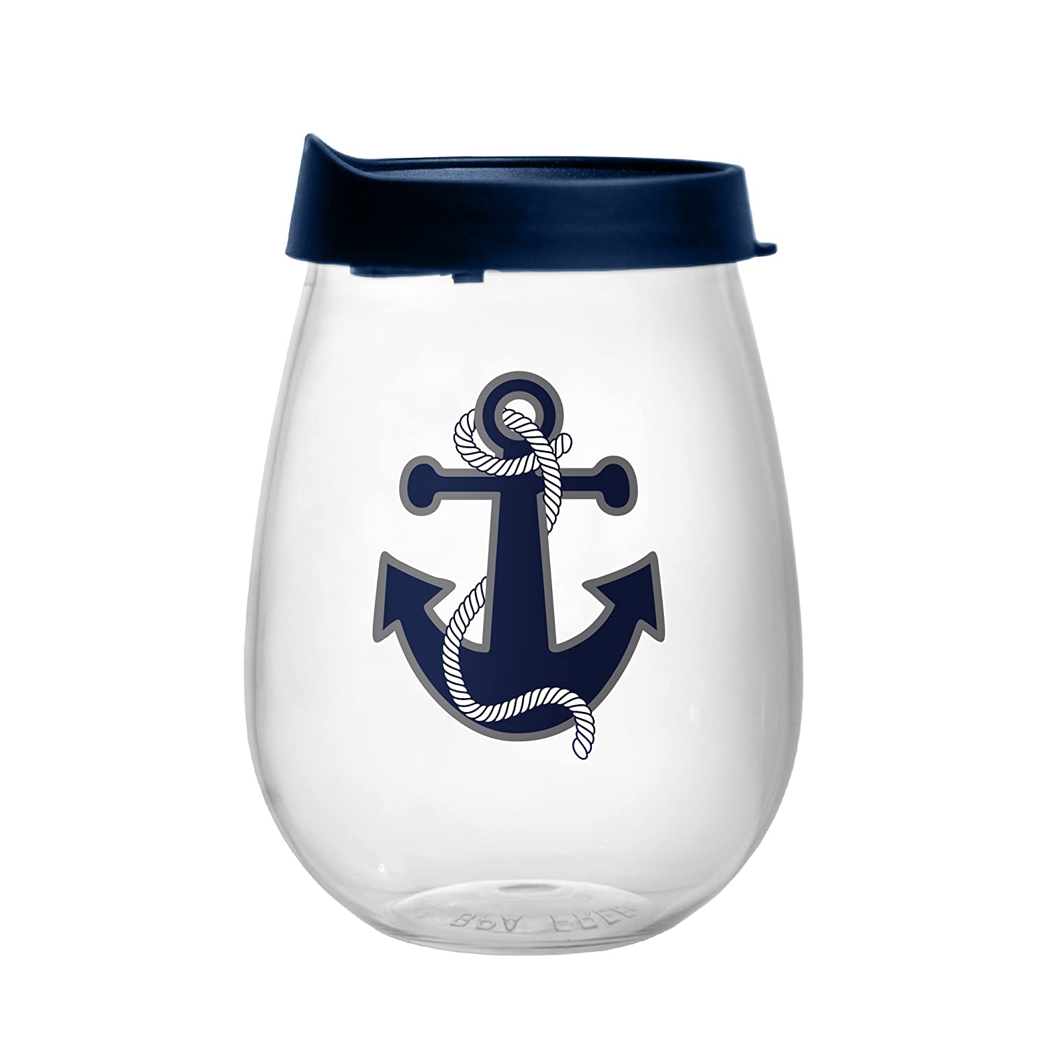 18-ounce Boelter Brands Nautical Plastic Curved Beverage Glass