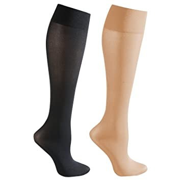 585c820bd Image Unavailable. Image not available for. Color  Moderate Support 2 Pr  Knee High Trouser Socks 15-20 mmHg Compression ...