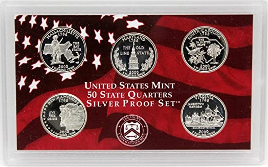 2000 S Silver Proof Sets in original Mint shipping box