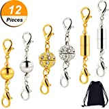 Amazon Price History for:Frienda 12 Pieces Magnetic Lobster Clasps for Necklace Bracelet Jewelry Making, Rhinestone Ball Style, Cylindrical and Ball Tone Lobster Clasp (Silver and Gold)