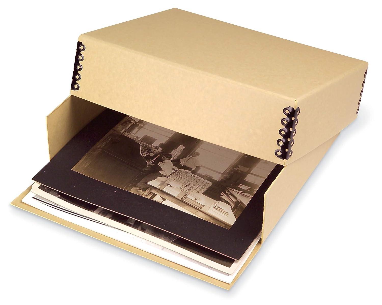 8 1//2W x 10 1//2L x 3H Gaylord Archival Blue//Grey Drop-Front Deep Lid Photo//Print Preservation Box