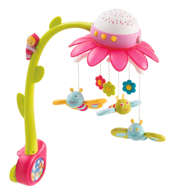Smoby 110112Cotoons fiori mobile con proiettore soffitto, Multicolore Smoby Toys GmbH