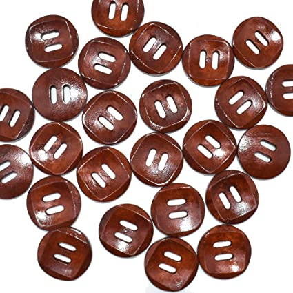 11mm Fawn Brown 4 Hole Button x 4 buttons