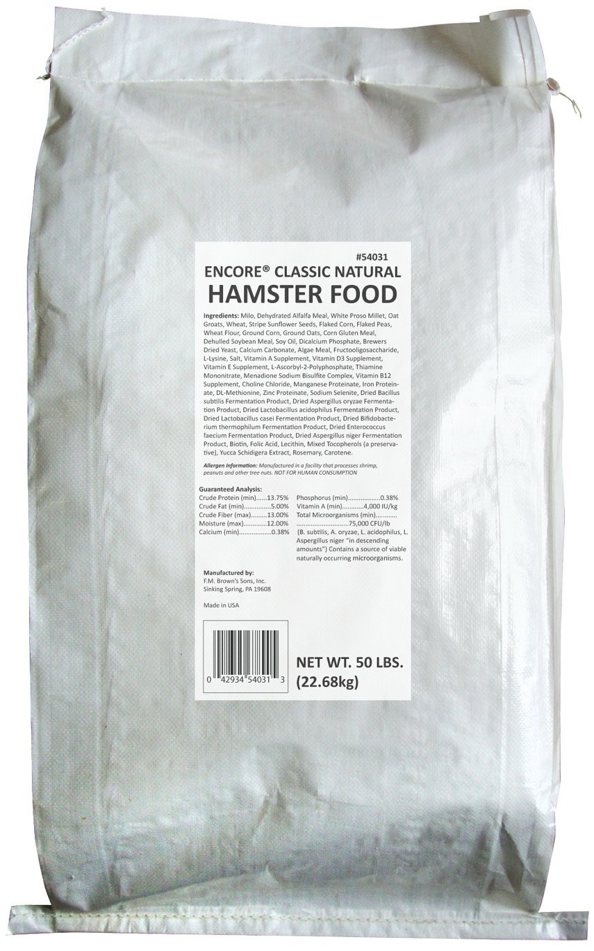 F.M.BROWN'S Classic Natural Hamster Food, 50-Pound