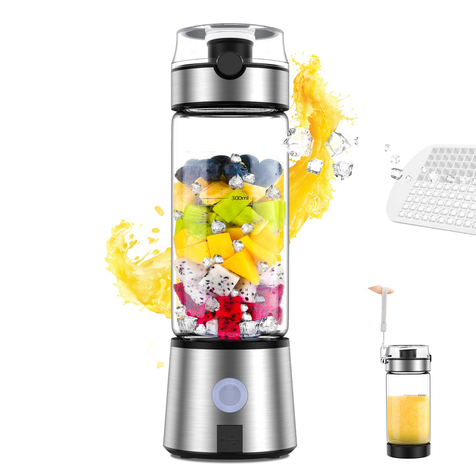 Portable Blender Smoothie Blender Personal Size Blender USB Rechargeable Shakes and Smoothies