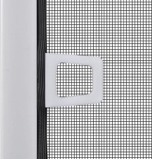 vidaXL Mosquitera de Ventana 100x120 cm Aluminio Blanco Pantalla Insecto Malla