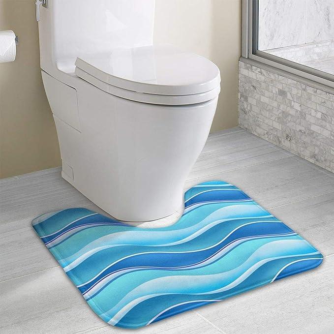Stupendous Amazon Com Non Slip Contour Bath Mat For Toilet Blue Wave Bralicious Painted Fabric Chair Ideas Braliciousco