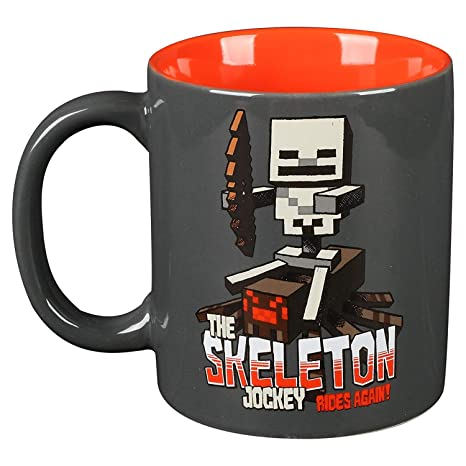 Minecraft Tasse Skeleton Jockey 325ml Keramik grau rot