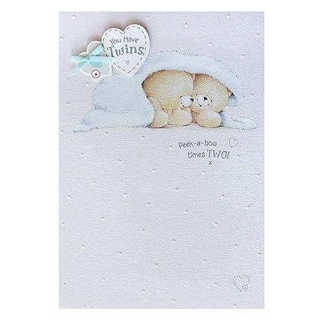 Amazon.com: Gemelos., (Forever Friends) nuevo bebé tarjetas ...