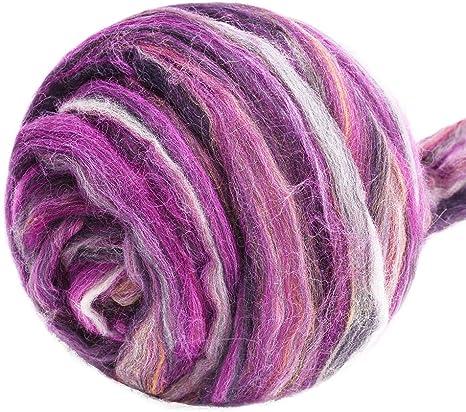 Flesh* 100/% Merino Rowing Wool Tops for Wet and Needle Felting Skin Tone 50 g
