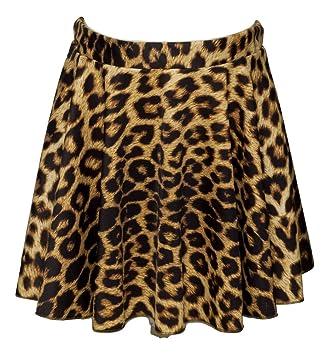 Katz Dancewear Girls ladies Leopard Zebra Or Tiger Animal Print Pull On Nylon//Lycra Circular Ballet Dance Skirt KDSK01