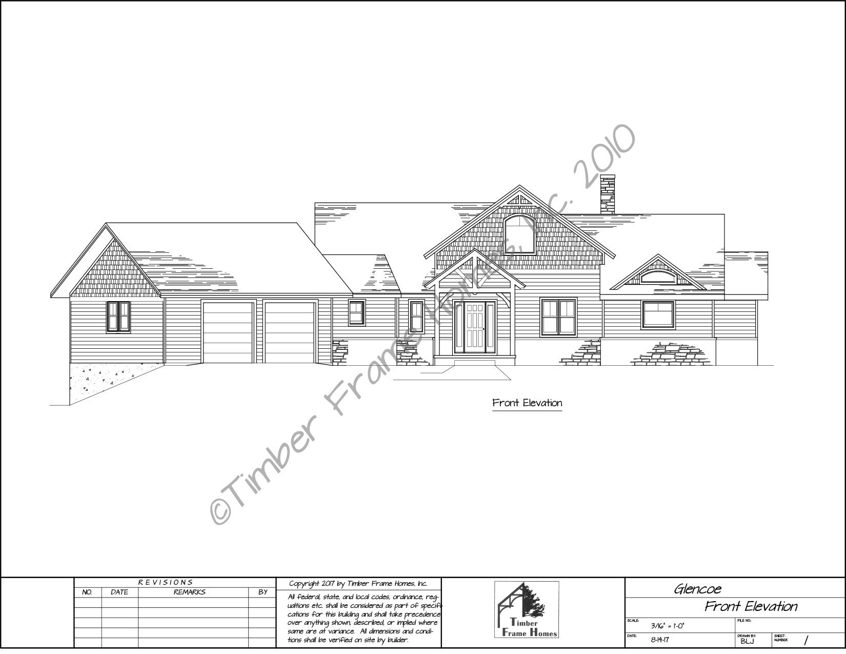 Home Plans - The Glencoe Timber Frame (DESIGN PROOF) by TimberStead
