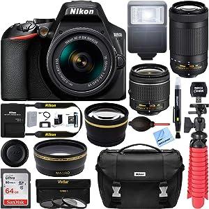 Amazon.com : Nikon D3500 Two Lens Kit with AF-P DX NIKKOR 18 ...
