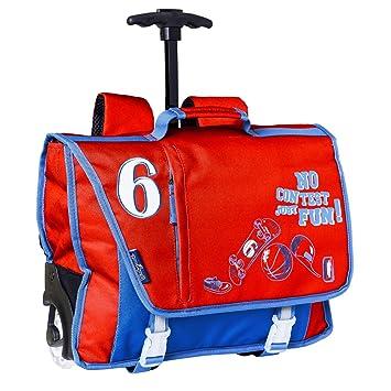 Cartable a roulettes garçon 38 cm Rouge et Bleu Bodypack  Amazon.fr ... 720a6bb1cad6