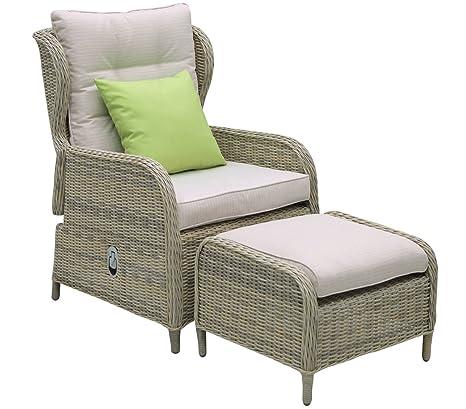 Dehner Kopenhagen - Set de jardín, sillón de 124 x 65 x 65 ...