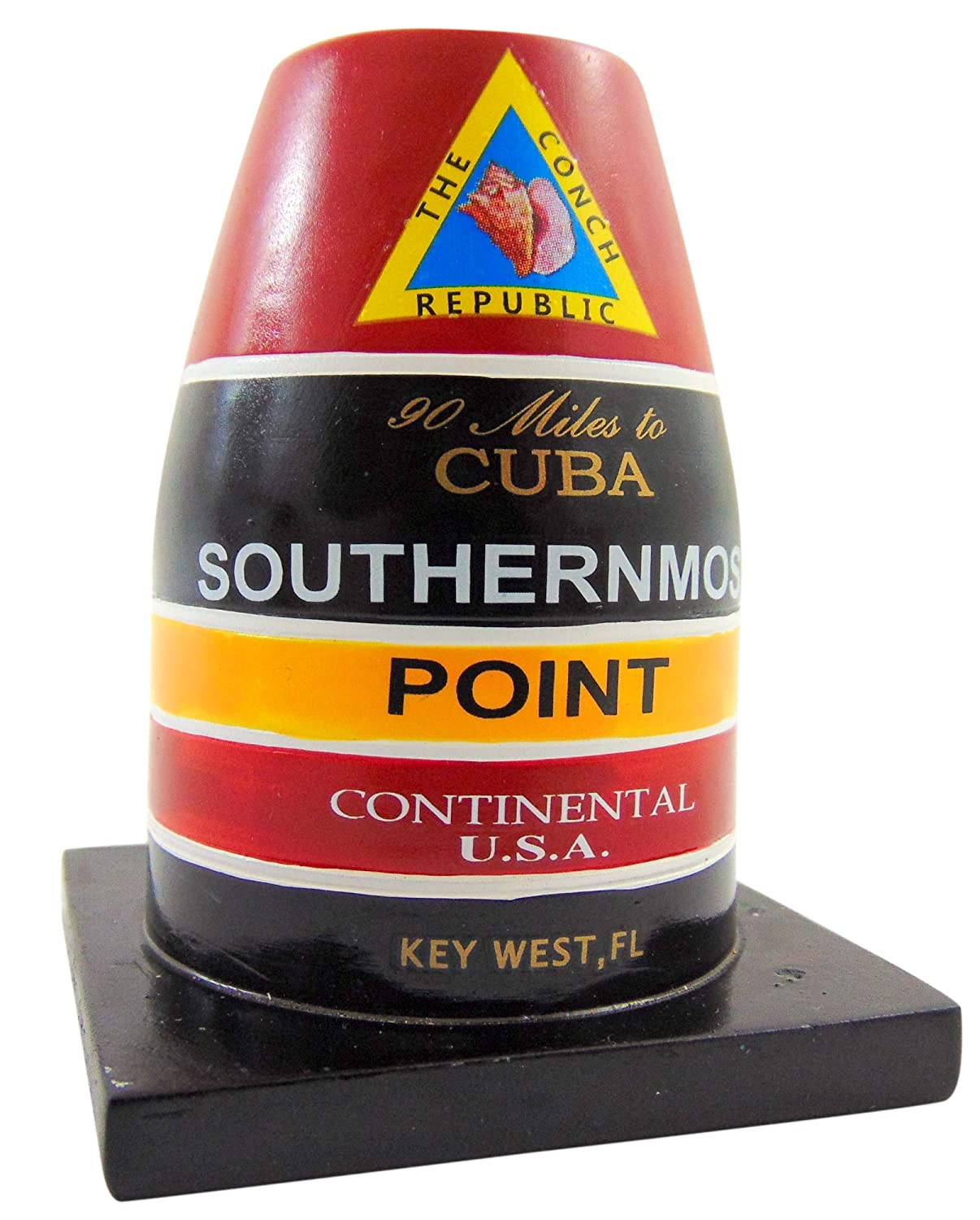 Southernmost Point Buoy Replica Statue Key West Florida Table Decoration 4 Inch