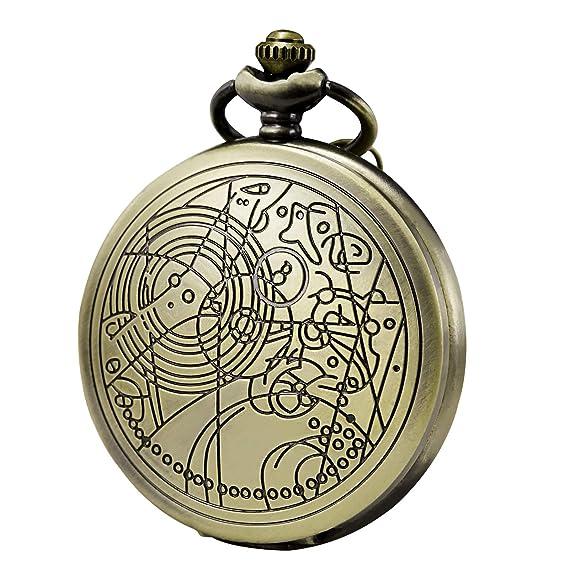 Amazon.com: Reloj de bolsillo Morfong de cuarzo con diseño ...