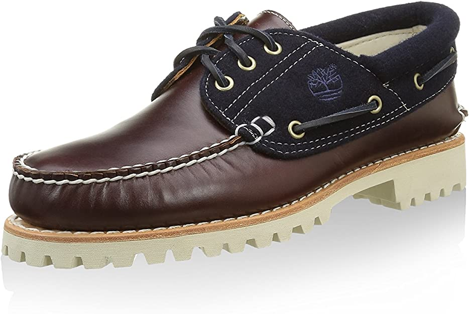Timberland Authntic 3 Eye FL Br Light, Chaussures de Navigation Homme