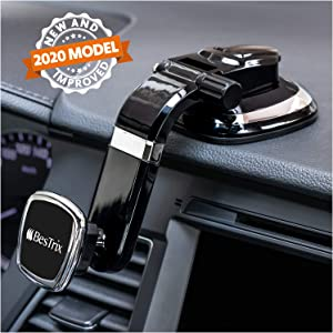 Phone Holder for Car, Magnetic Phone Car Mount, Dashboard Car Phone Holder Compatible with iPhone 11Pro,Xr,Xs,XS MAX,XR,X,8,8Plus,7,7Plus,6,6Plus,Galaxy Note S7,8,9,10, and All Smartphones by Bestrix