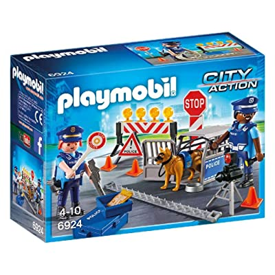 Playmobil 6924 City Action Police Roadblock: Toys & Games